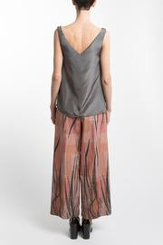 Clara Kaesdorf Gray Silk Top - Back cropped