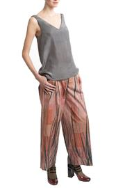 Clara Kaesdorf Gray Silk Top - Front full body