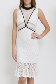Clara Story Lace Peplum Dress - Front cropped
