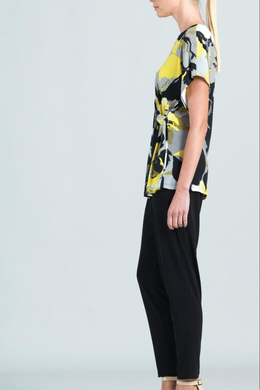 Clara Sunwoo Abstract-Floral Side-Tie Knit-Tunic - Front Full Image