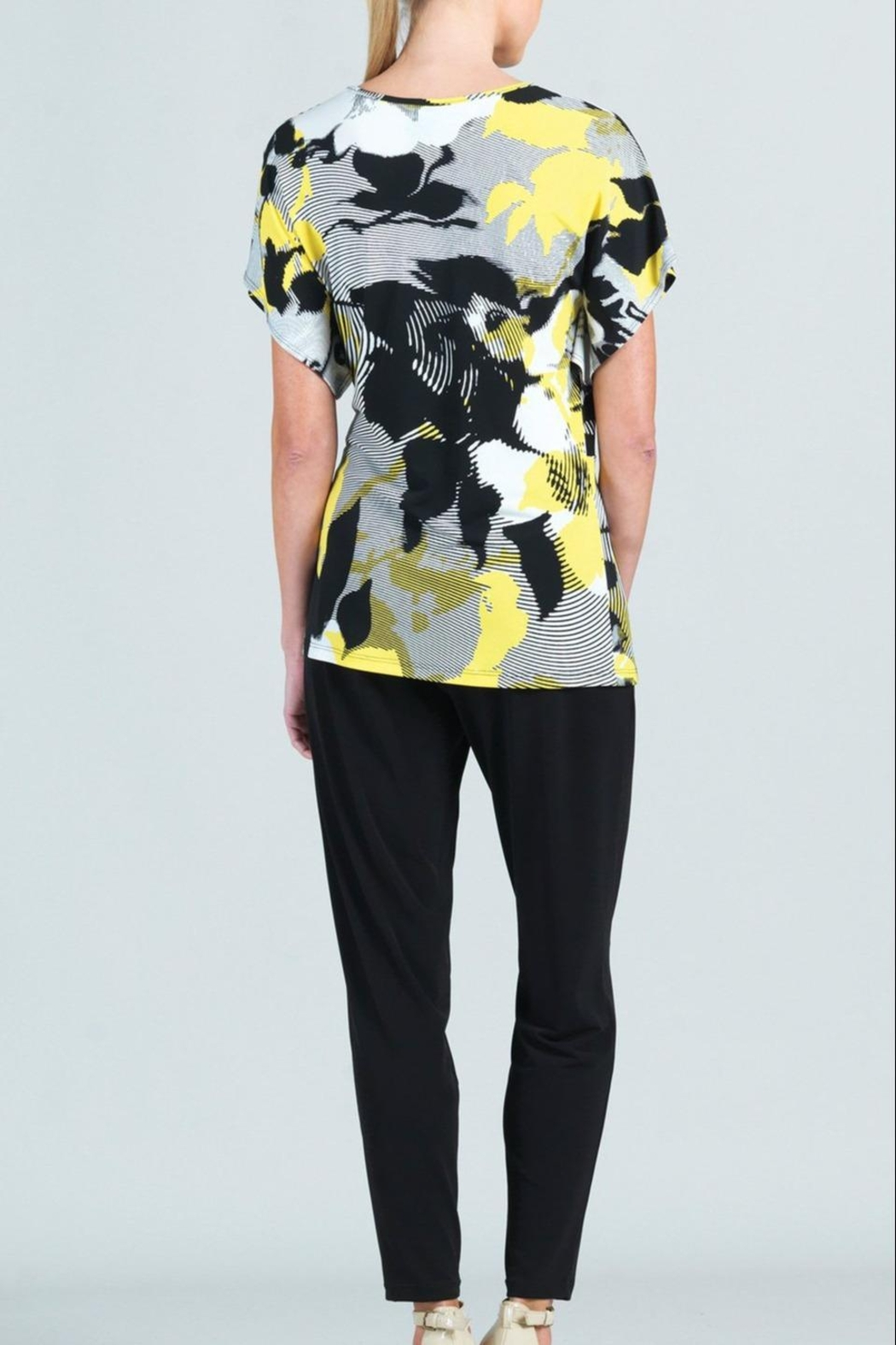 Clara Sunwoo Abstract-Floral Side-Tie Knit-Tunic - Side Cropped Image
