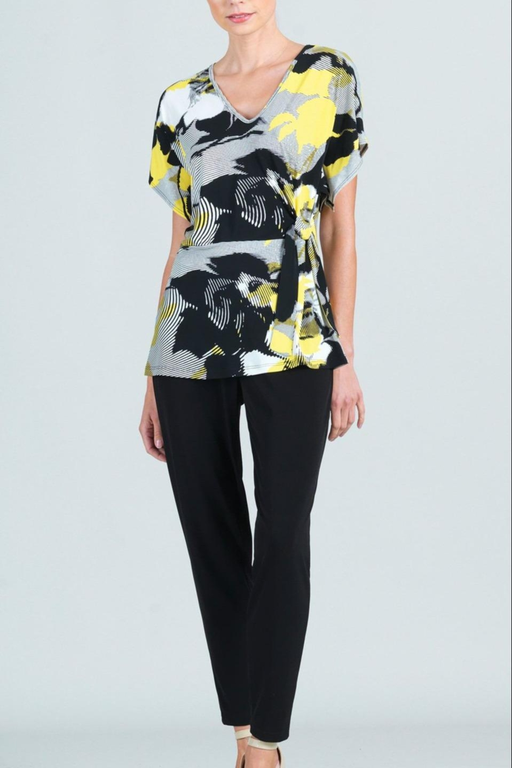 Clara Sunwoo Abstract-Floral Side-Tie Knit-Tunic - Main Image