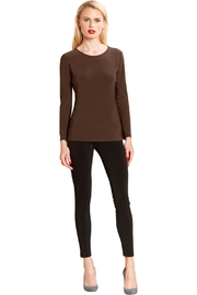 Clara Sunwoo Brown Scoopneck Top - Product Mini Image