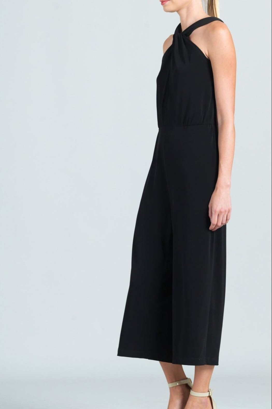Clara Sunwoo Cross-Front Cropped-Halter Jumpsuit - Side Cropped Image