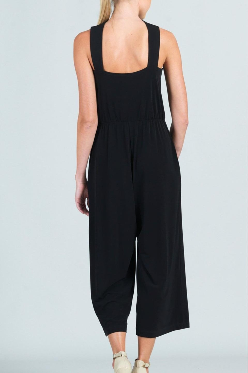 Clara Sunwoo Cross-Front Cropped-Halter Jumpsuit - Back Cropped Image