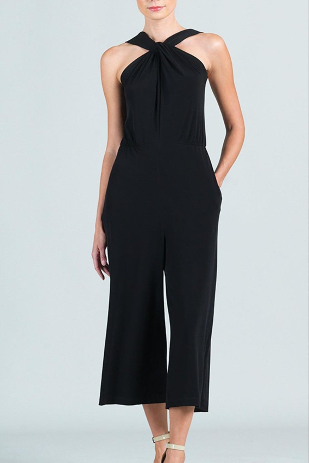 Clara Sunwoo Cross-Front Cropped-Halter Jumpsuit - Main Image