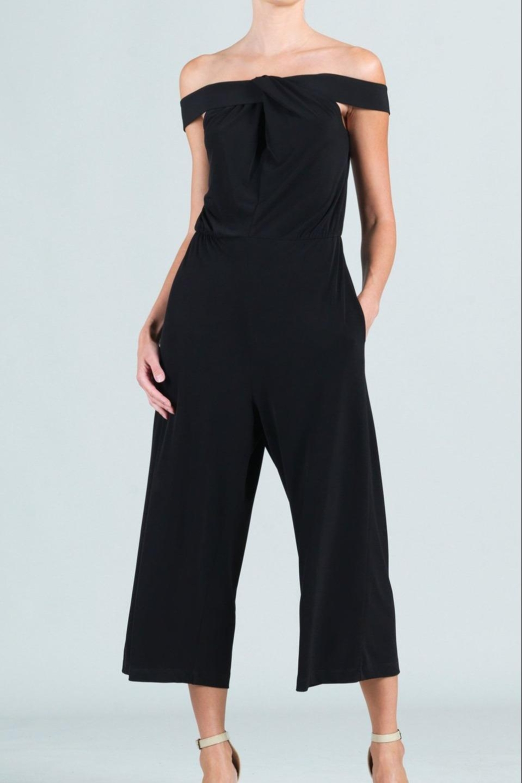 Clara Sunwoo Cross-Front Cropped-Halter Jumpsuit - Front Full Image