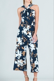 Clara Sunwoo Floral Cross-Front Halter-Jumpsuit - Front cropped