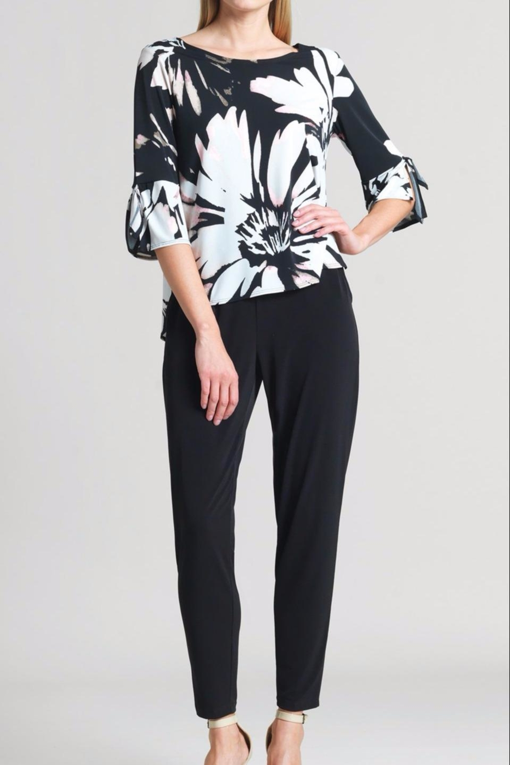 Clara Sunwoo Floral Top Cuff-Tie - Front Cropped Image