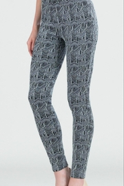 Clara Sunwoo Geometric-Stretch Jacquard Leggings - Product Mini Image