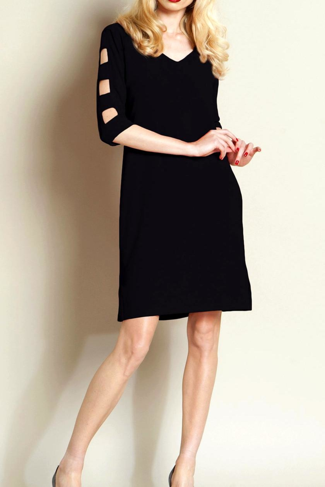 Clara Sunwoo Ladder Sleeve Dress - Main Image