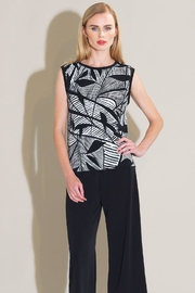 Clara Sunwoo Leaf-Print Box Tank - Product Mini Image
