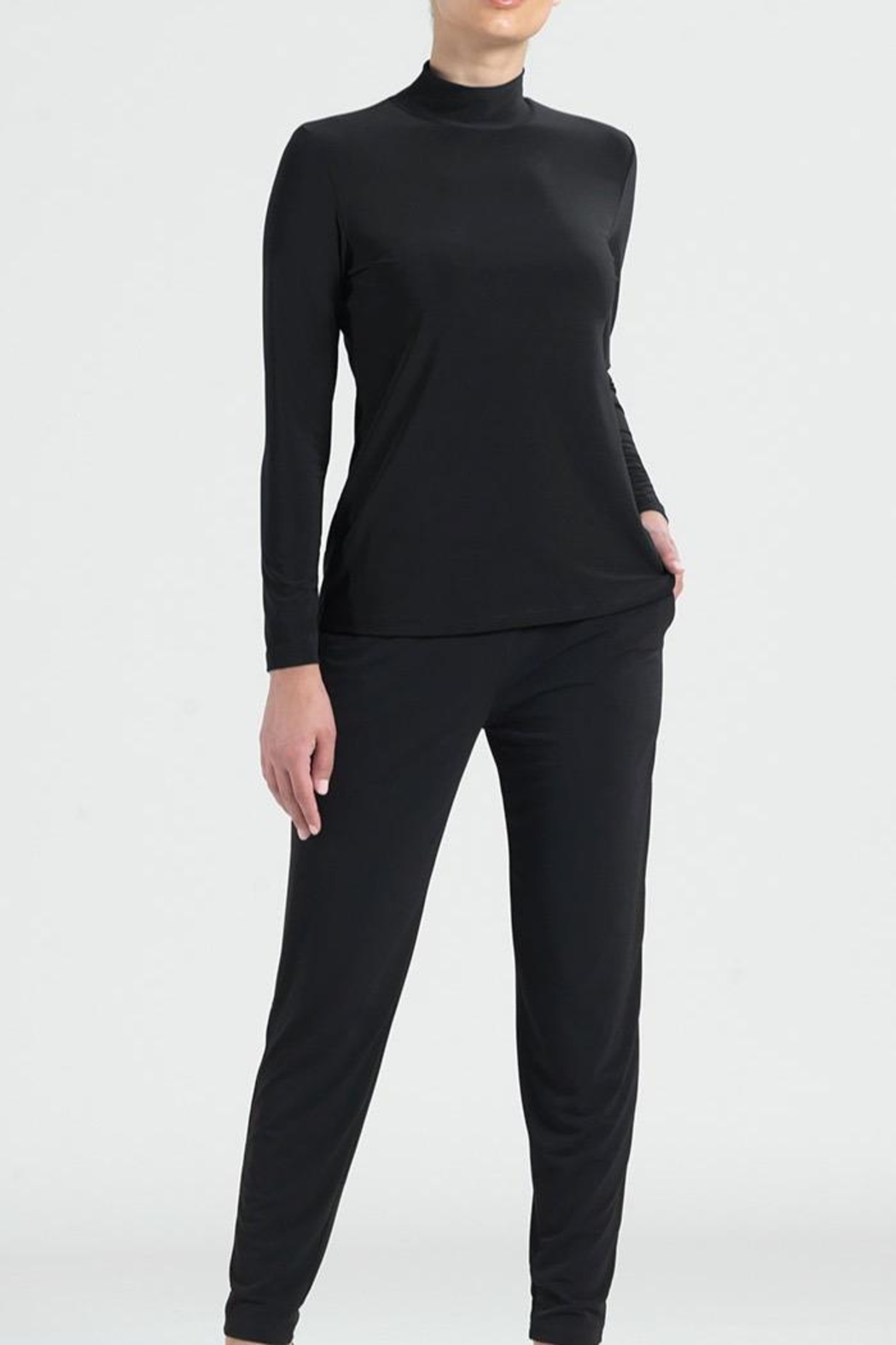 Clara Sunwoo Mock Neck Top - Front Cropped Image