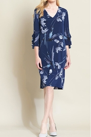 Clara Sunwoo Navy Print Dress - Product Mini Image