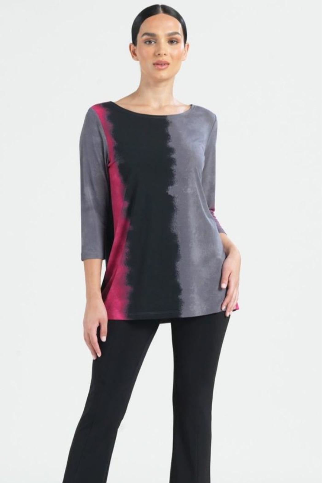Clara Sunwoo Ombre Fuchsia Top - Front Cropped Image