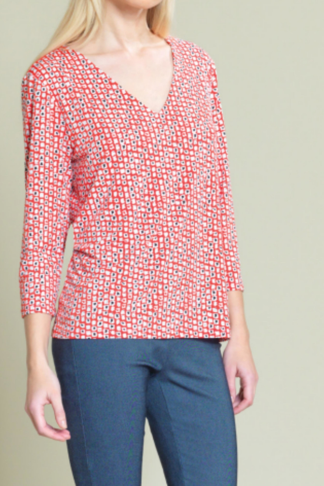 Clara Sunwoo Patterned Silky Top - Front Cropped Image