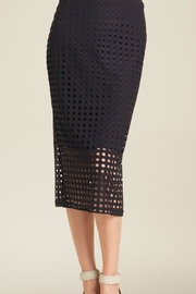 Clara Sunwoo Perforated Knit Skirt - Front cropped