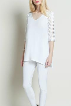 Clara Sunwoo Perforated Trimmed Tunic - Product List Image