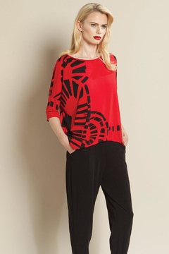 Shoptiques Product: Printed Red Top