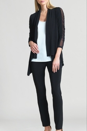 Clara Sunwoo Ruched Mesh-Sleeve Cardigan - Product Mini Image