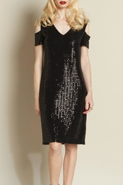 Clara Sunwoo Shimmer Open Shoulder Dress - Product Mini Image
