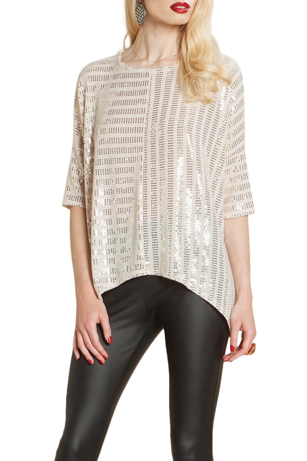 34e310172388c6 Clara Sunwoo Shimmer Sequin Top from Iowa by Elegance Boutique ...