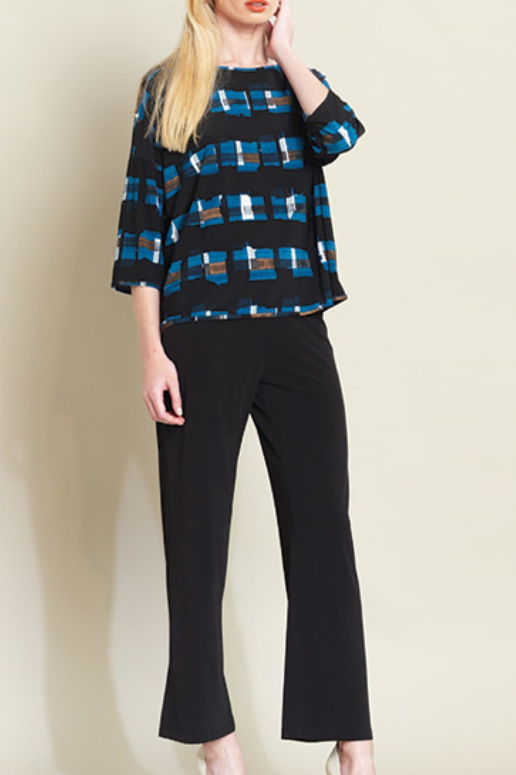 Clara Sunwoo Silky Plaid Top - Front Cropped Image