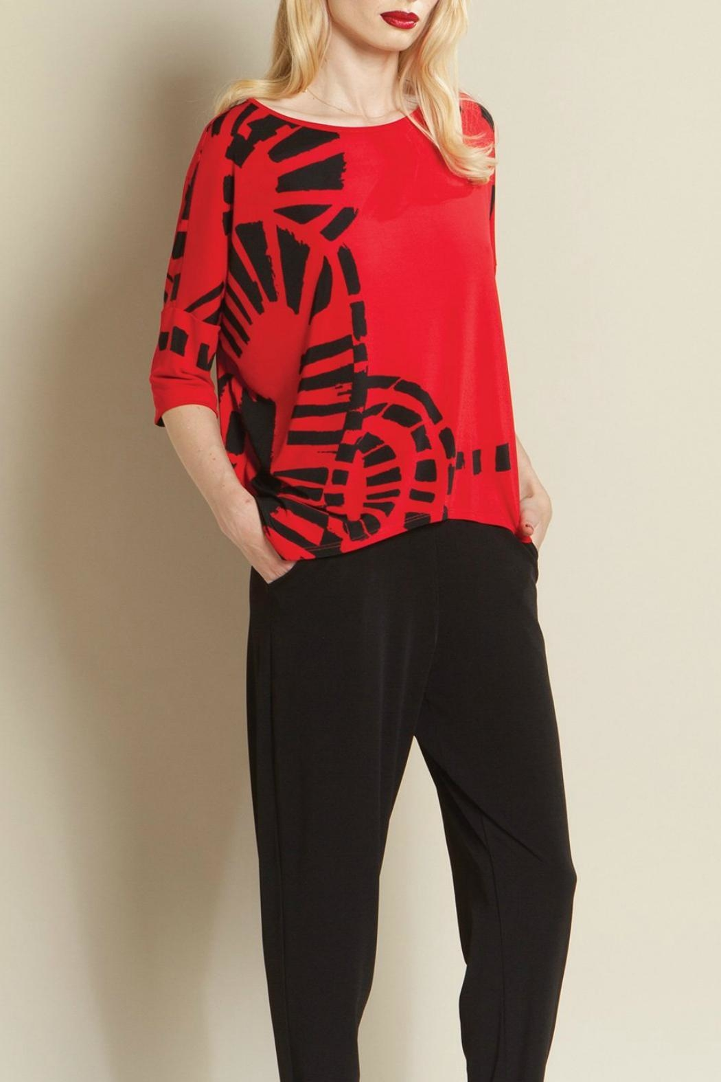 Clara Sunwoo Track Print Top - Front Cropped Image