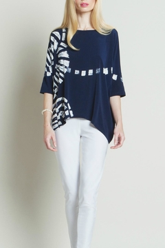 Shoptiques Product: Navy Track Print Top