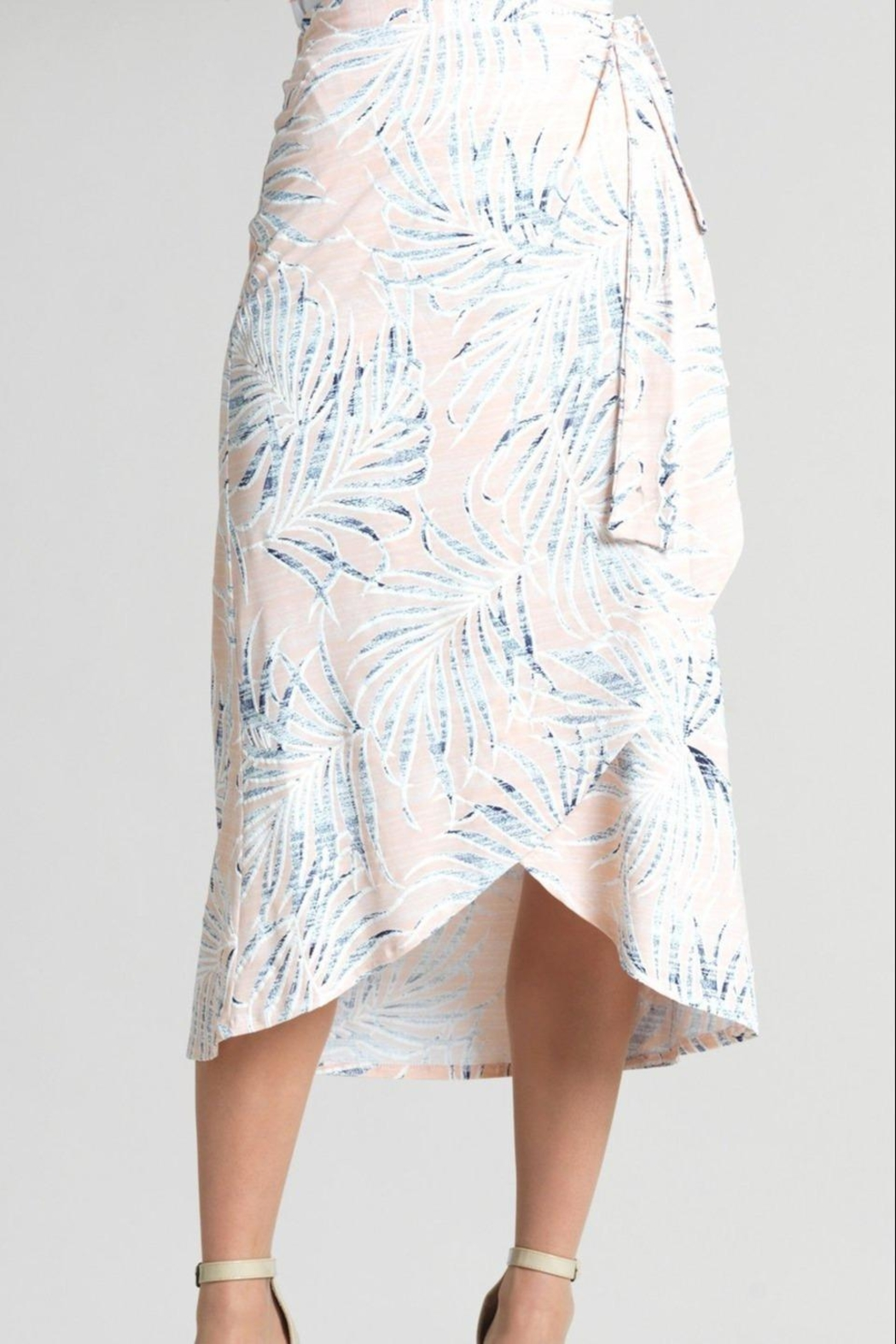 Clara Sunwoo Tropical-Print Wrap-Front Skirt - Front Cropped Image