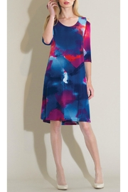 Clara Sunwoo Watercolor Swing Dress - Front cropped