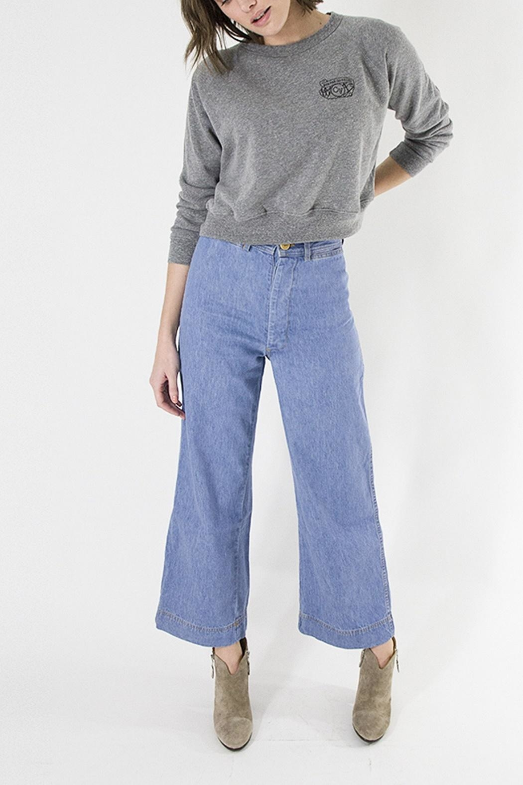 Clare V. Camp Fit Sweatshirt - Front Cropped Image