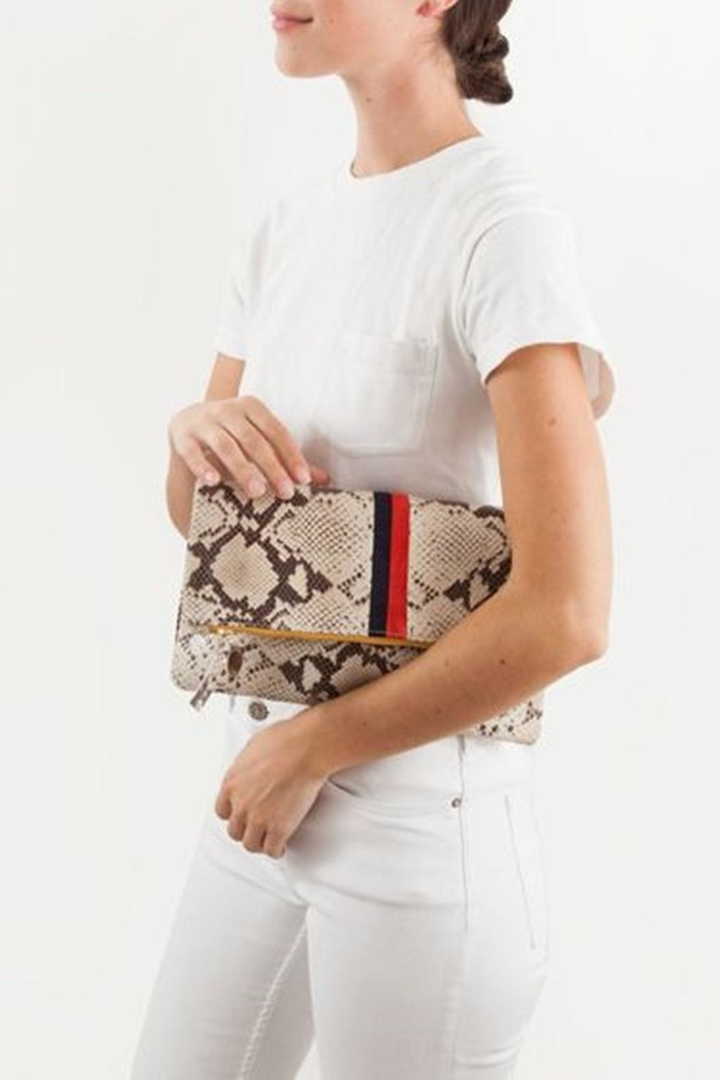 Clare V. Foldover Clutch - Side Cropped Image