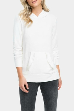 Shoptiques Product: Clarice Ruffle Modal-Hoodie