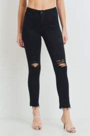 Just Black Denim Clarissa Destructed High Rise Skinny Jeans - Product Mini Image