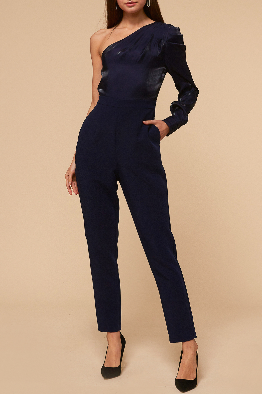 Adelyn Rae Clarissa One Shoulder Jumpsuit - Main Image