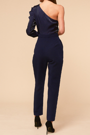 Adelyn Rae Clarissa One Shoulder Jumpsuit - Front full body