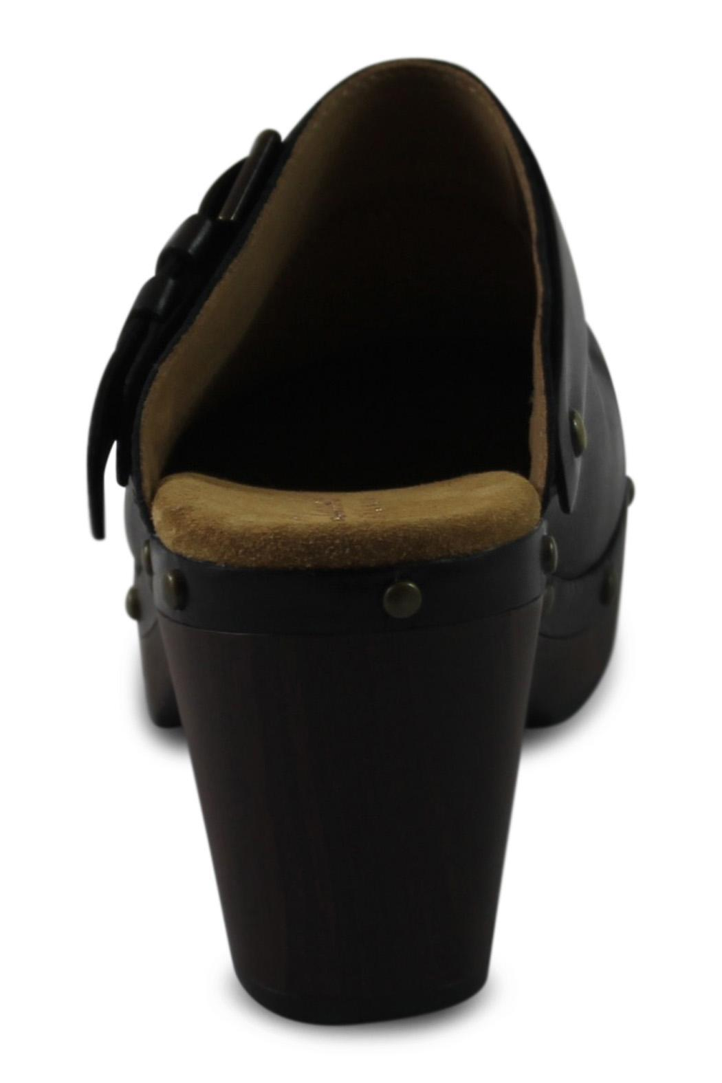 Clarks Black Open Clog - Side Cropped Image