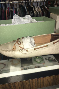 Clarks Metallic Gold Shimmer with Leather Tie Moccasin - Product List Image