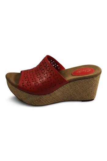 Clarks Red Wedge Sandal - Main Image