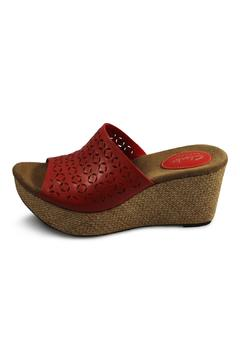 Shoptiques Product: Red Wedge Sandal