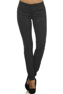 Shoptiques Product: Reptile-Embossed Coated Jeans