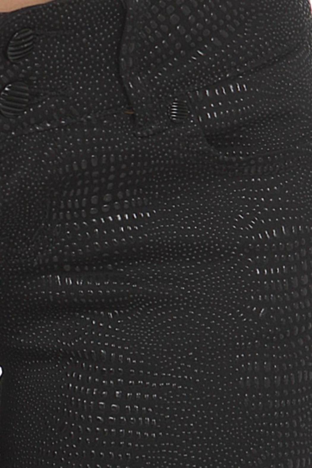 Clash Jeans USA Reptile-Embossed Coated Jeans - Back Cropped Image