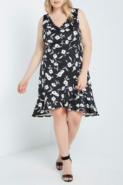 MaiTai Classic B&W Floral Dress - Front cropped