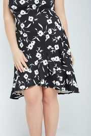 MaiTai Classic B&W Floral Dress - Front full body