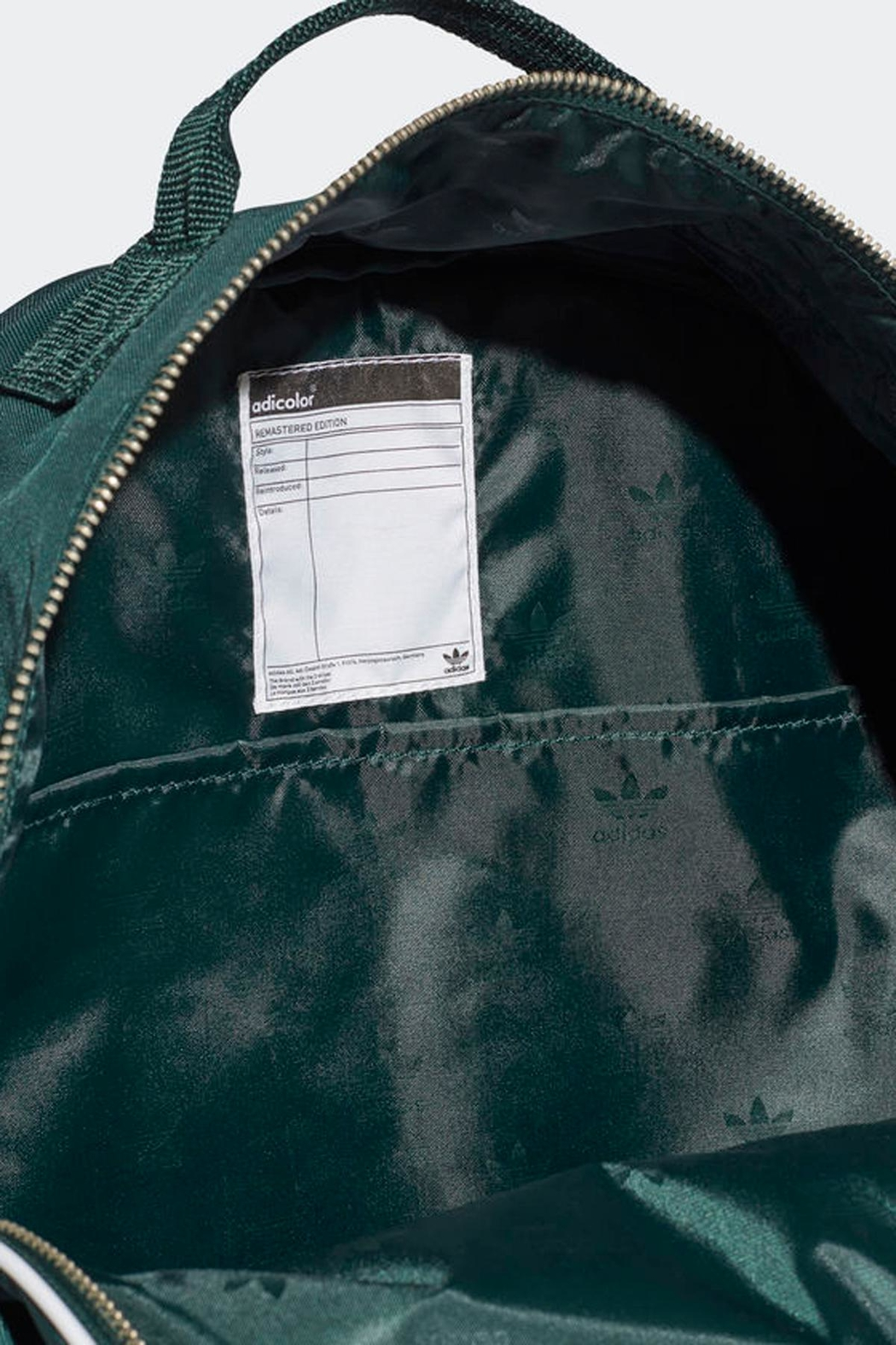 adidas Classic Backpack Green - Back Cropped Image
