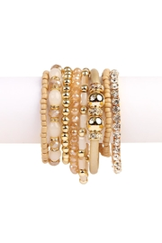 Riah Fashion Classic Bead Bracelet - Product Mini Image