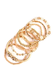 Riah Fashion Classic Bead Bracelet - Front full body