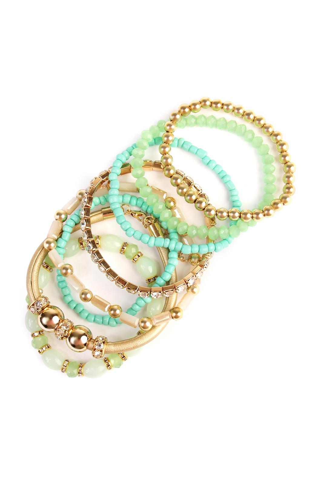 Riah Fashion Classic Bead Bracelet - Front Full Image