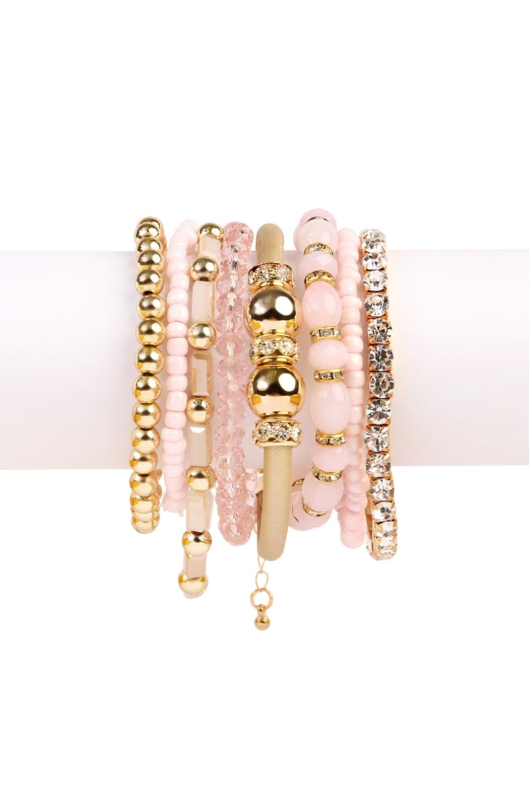 Riah Fashion Classic Bead Bracelet - Front Cropped Image